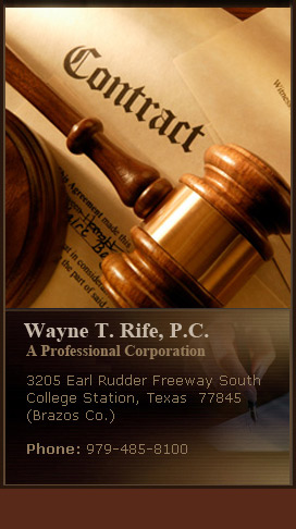 Wayne T. Rife- Commercial Law & Litigation Attorney