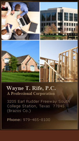 Wayne T. Rife- Real Estate Disputes and Litigation Attorney
